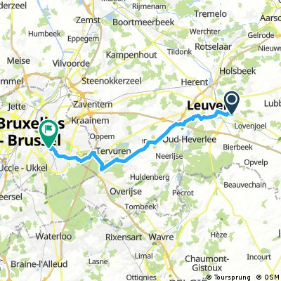Leuven-Etterbeek Kapucijnenbos bosroute