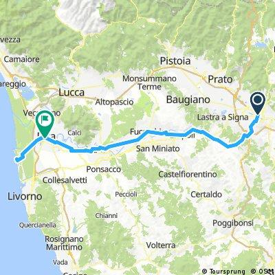 Toscana 3. nap strandolással