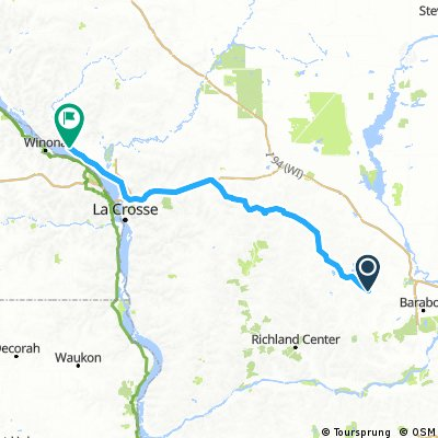 Wisconsin bike-trail century