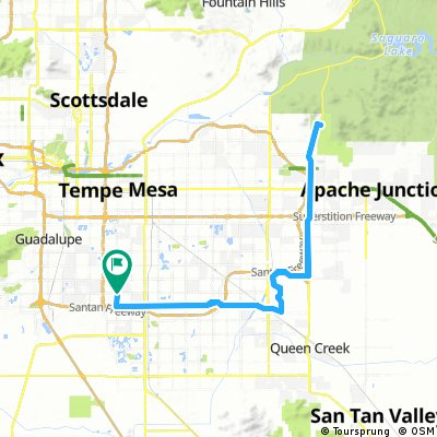 Cycling routes and bike maps in and around Chandler   Bikemap - Your on