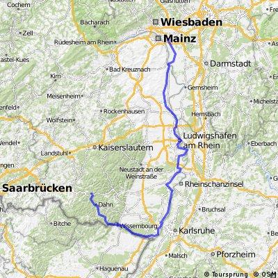 Von Mainz-Bischofsheim nach Hinterweidental