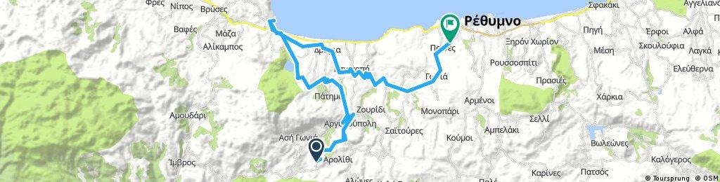 Miriokefala-Lappa-Kournas Lake-Georgioupolis-Dramia-Episkopi-Atsipopoulo