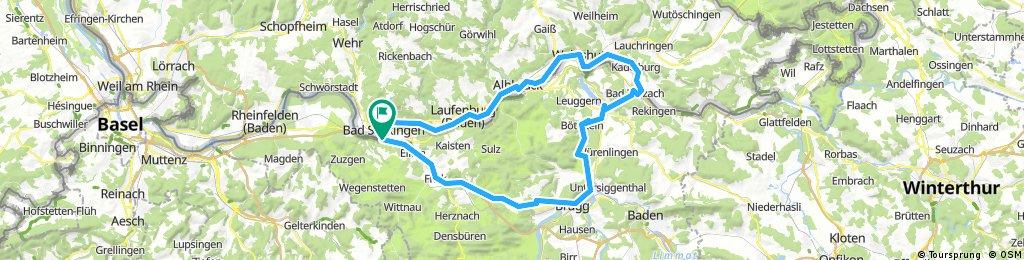 Rhein - Aare - Fahrradtour