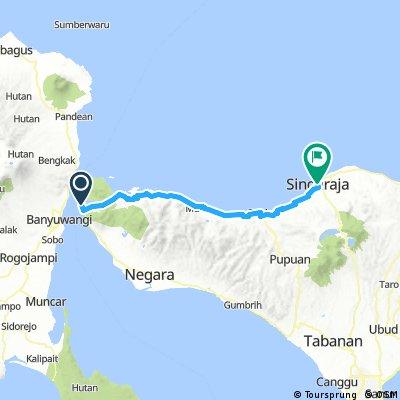 Bali: Gilimanuk - Singaraja (richting Sanbangan)