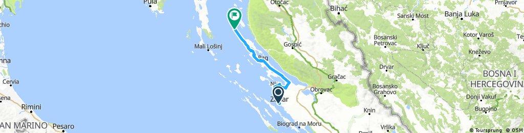 Zadar - Pag 112km