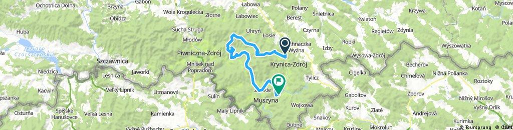 Słotwiny - Łabowska Hala - Szczawnik