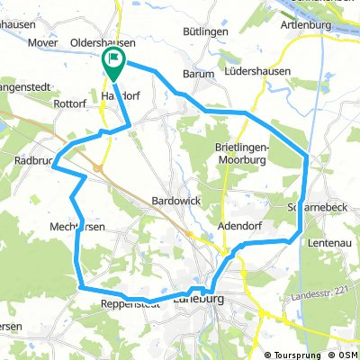 Rundkurs Handorf - Lüneburg