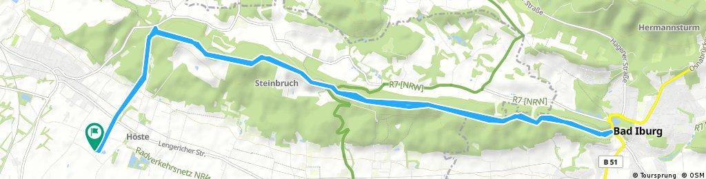 höste über Herrnmannsweg nach Bad Iburg