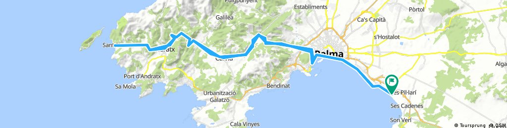 Mallorca (Arenal - Sant Elm - Arenal)