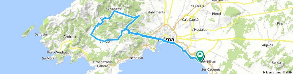 Mallorca (Arenal - Col de Vent - Galilea)