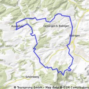 MTB Tour Rosenfeld - Plettenberg - Lochen - Ostdorf