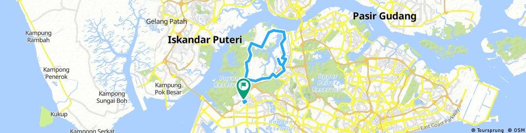 Jurong West to Kranji via LCK