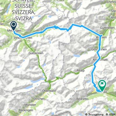 Meiringen to Airolo