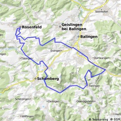 MTB Tour, Rosenfeld hinter Pelttenberg - Tieringen - Hörnle
