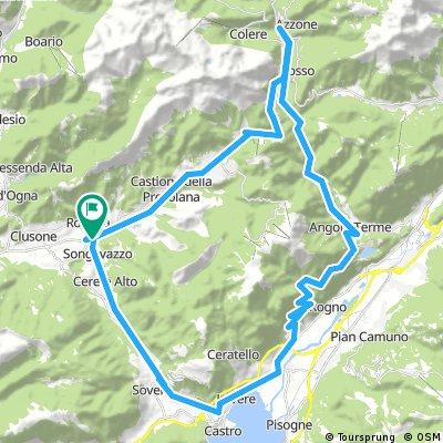 Rovetta - Passo della Presolana - Via Mala Val di Scalve - Lovere - Rovetta