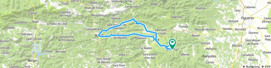 Santa Pau-Olot-Canes-Ripoll