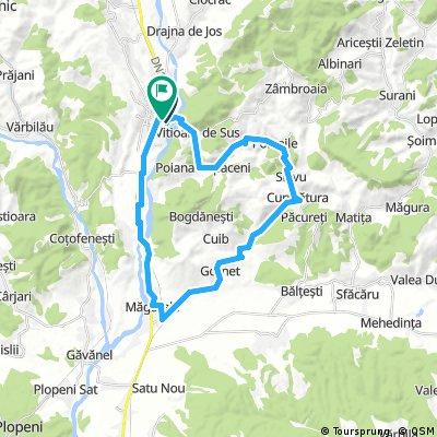Valenii de Munte - Viitoara de Sus - Poiana Copaceni - Poienile - Curmatura - Gornet - Magurele - Coada Malului - Valenii de Munte