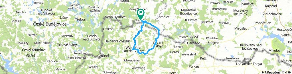 Slavonice a Austria cyklo po trati