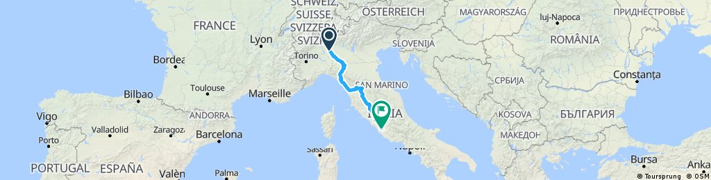 Rough Proposed Italian Route