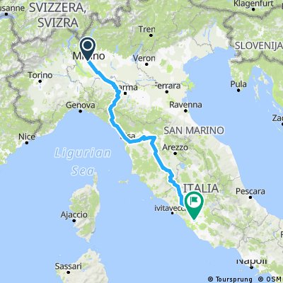 Rough Proposed Italian Route
