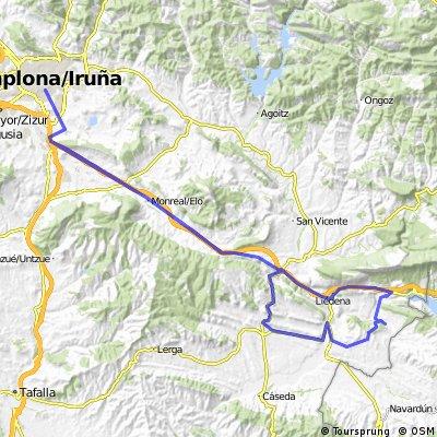 Pamplona - Aibar - Sangüesa - Javier - Yesa - Liédena - Pamplona CLONED FROM ROUTE 205351