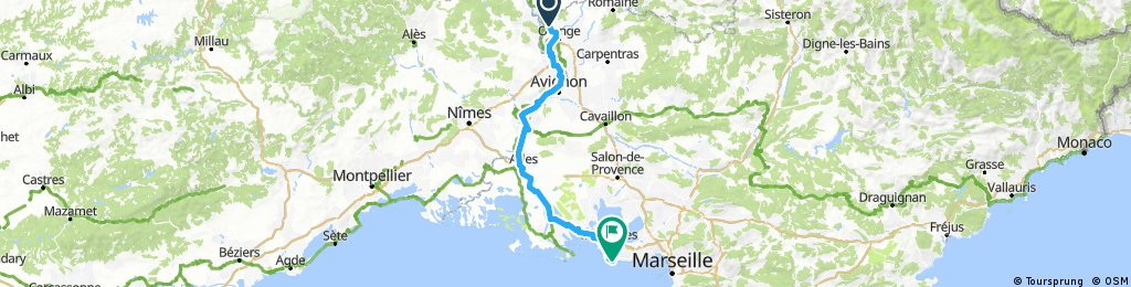 from Piolenc to Sainte-croix