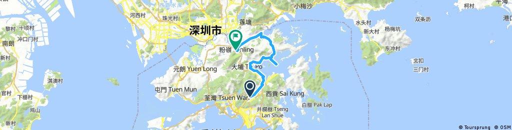20180401 大囲ー大美ー粉嶺 50km