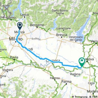 Como Umweg über Monza - Mailand - PoRoute/Loiolo