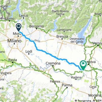 Como ohne Umweg Mailand/Teilstrecke bis PoRoute/Loiolo