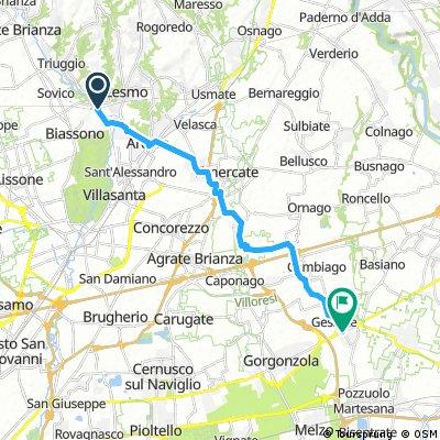 Como - ohne kurzer Umweg über Mailand - direkte Teilstrecke