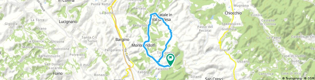 bike tour through San Casciano in Val di Pesa