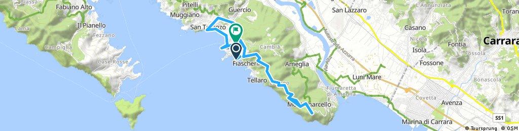 Fiascherino-Montemarcello-Solaro-San Terenzo-Fiascherino 01-04-18