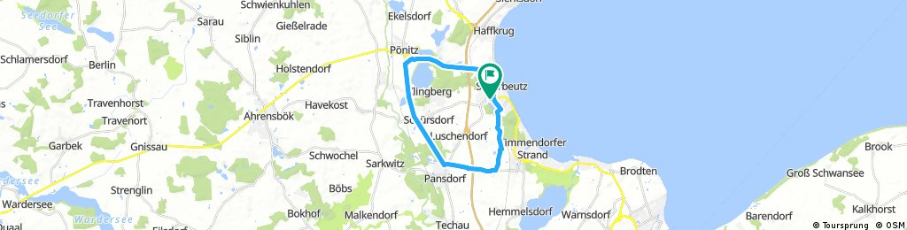 Ostsee: Scharbeutz 20 km Runde