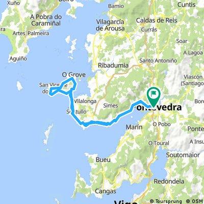 Pontevedra - O Grove - Pontevedra 77,4km