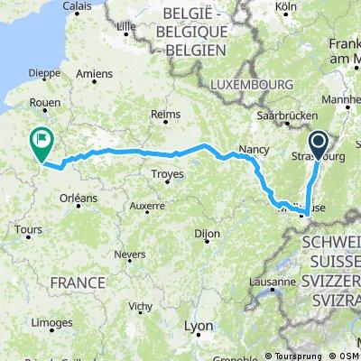 Strasbourg to Senoches