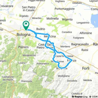 Bologna bis Faenza und zwei fette Anstiege