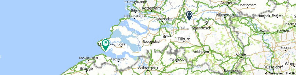 Zomervakantie fietstocht naar Domburg