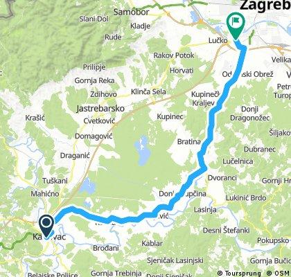 Karlovac - Pisarovina - Zagreb