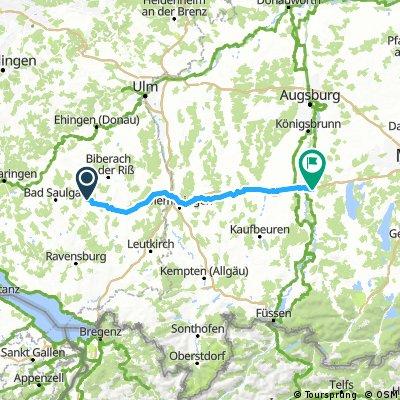 3.Ettappe nach Landsberg