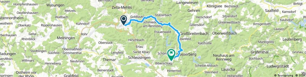 Anreise  Bahnhof Suhl -Neuhaus -Masserberg -Schnett