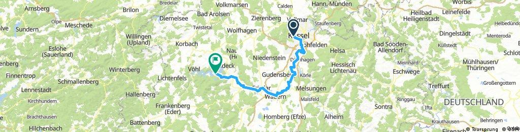 Kassel - Fuldaradweg - Ederradweg - Ederstausee