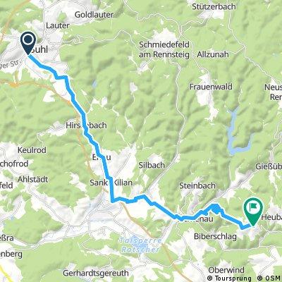 Kürzere Route Bahnhof Suhl-Masserberg-Schnett