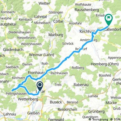 Lollar - Dünsberg - Lange Hessen - Stadtallendorf