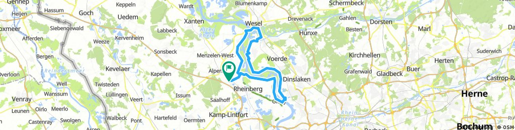 Orsoy Wesel Rheinberg Bikemap Your Bike Routes