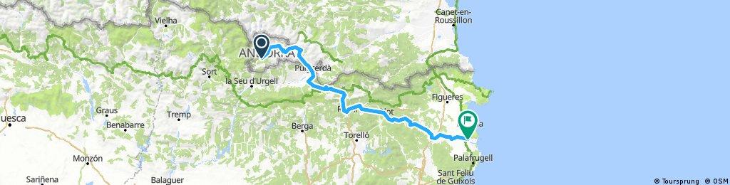 Andorra og niður að sjó