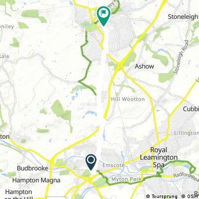 Warwick to Kenilworth