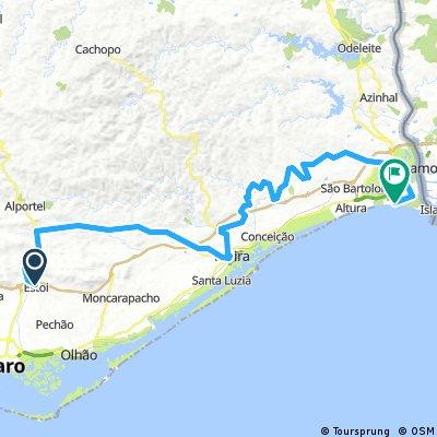 Ride Across Algarve - Estoi to Monte Gordo