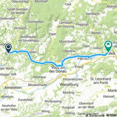 3. nap: Grein-Melk, 44 km