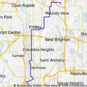 B2B00273 55401>55112 via Main St NE, Central Ave NE