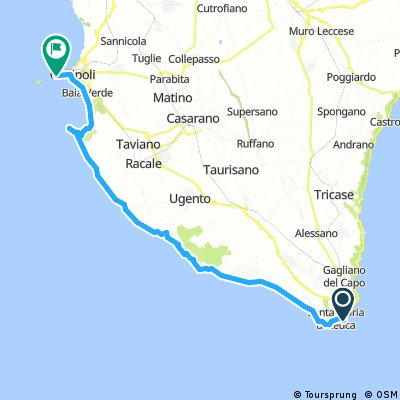 Santa Maria di Leuca- Otranto | Bikemap - Your bike routes on medano beach map, santa catarina map, sao vicente map, victorville map, solvang ca map, rancho santa fe map, palm springs map, ventura map, sta maria laguna map, san ynez map, san francisco map, los angeles westside map, california map, mt laguna map, los angeles co map, south andros map, pismo beach map, port antonio map, pismo coast map, rancho santa margarita map,